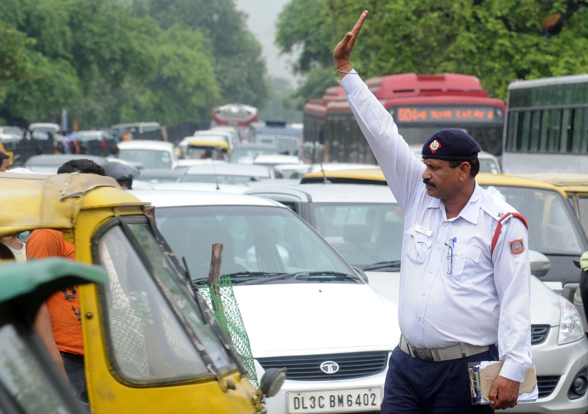 Image result for traffic police delhi