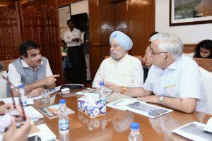 Nitin Gadkari and Hardeep Singh Puri