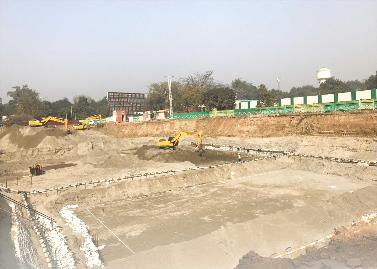 Construction at Pragati Maidan