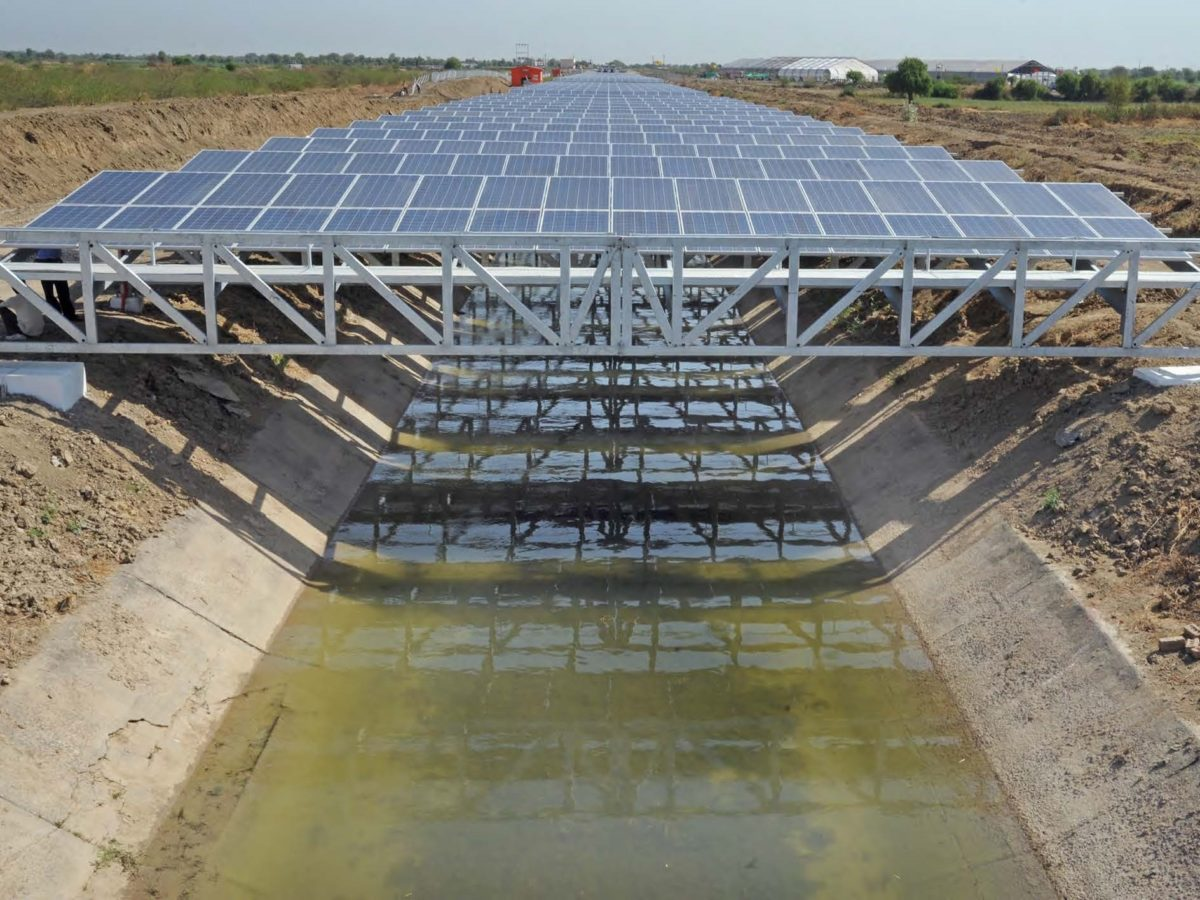 canal-top solar project