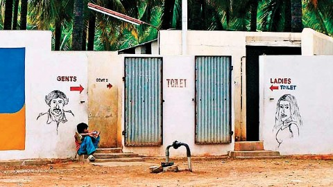 NDMC cleans toilets