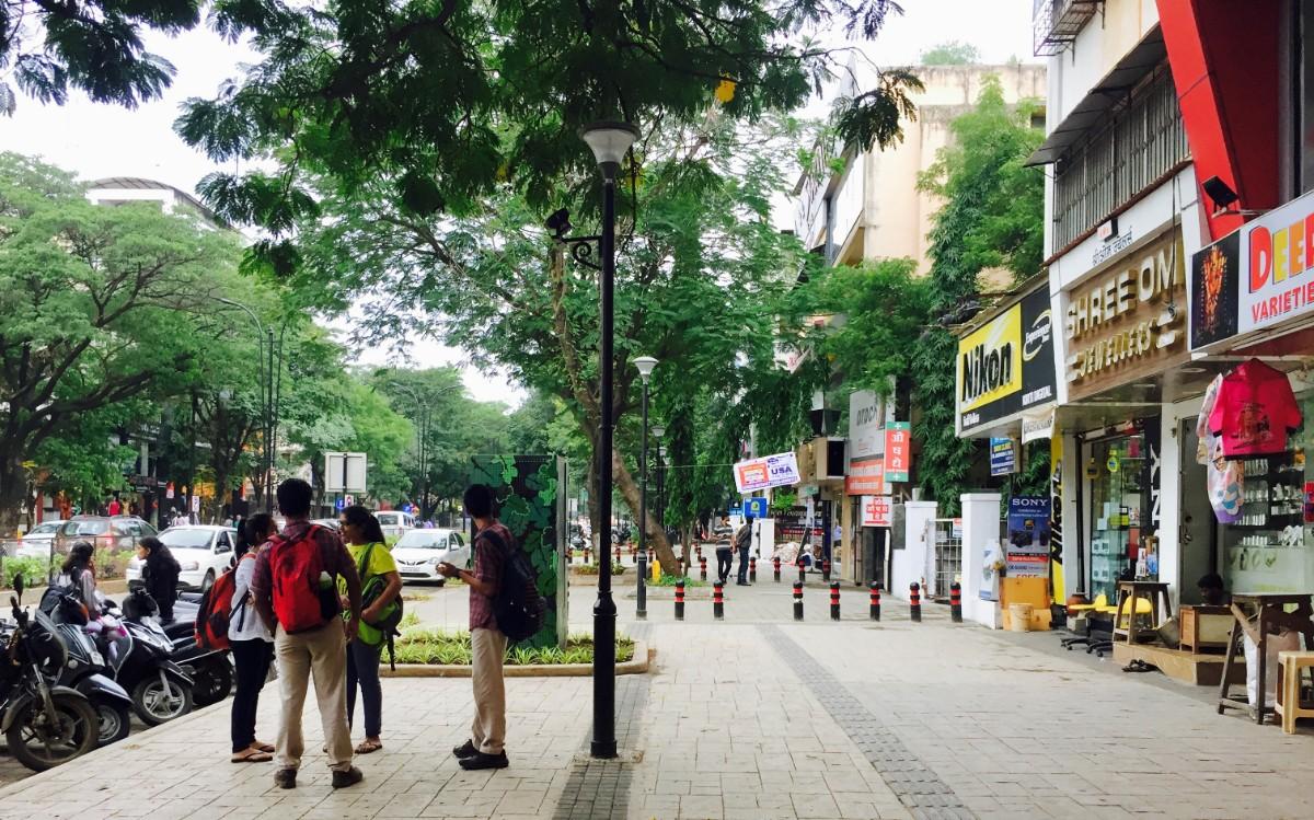 Pedestrian malls at 18 spots