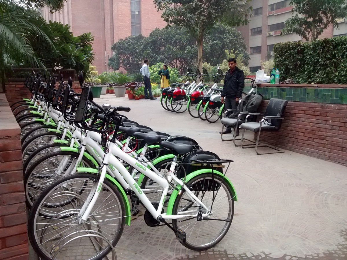 DMRC provides permanent bicycle stands