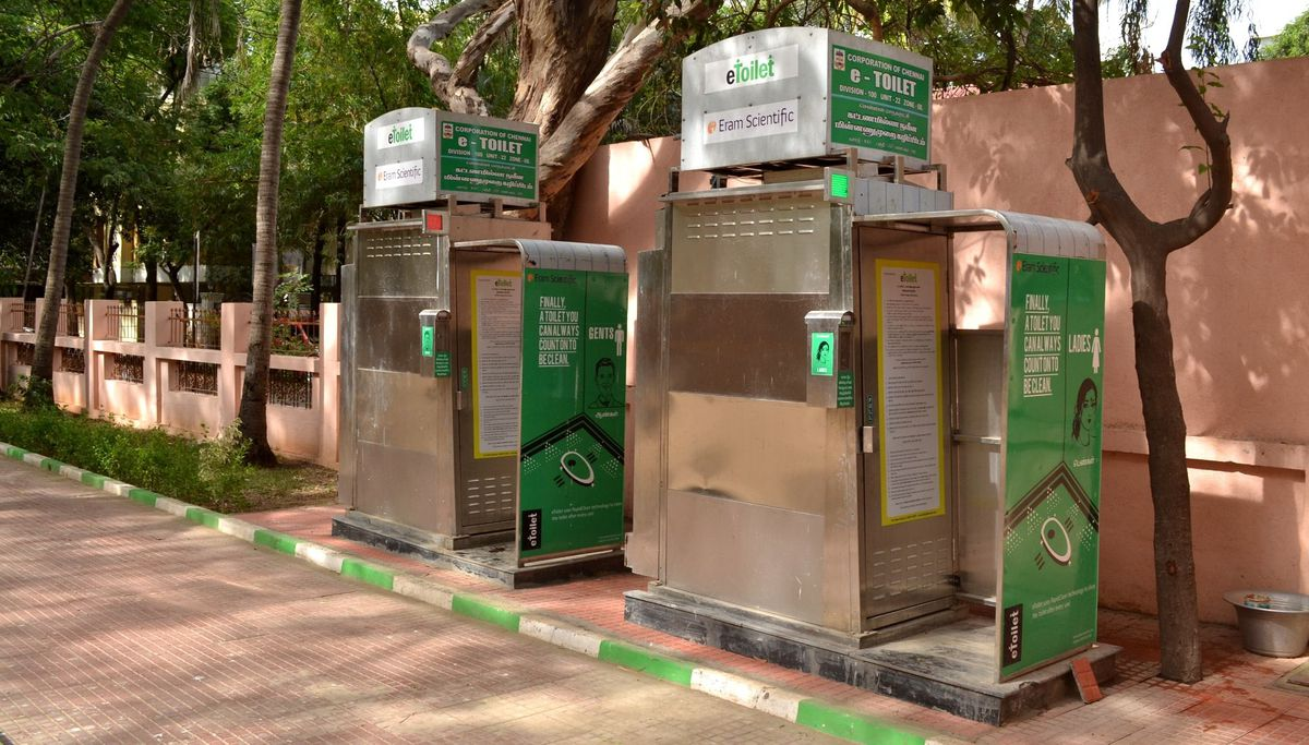 First e-toilet facility set up on Fatehabad road