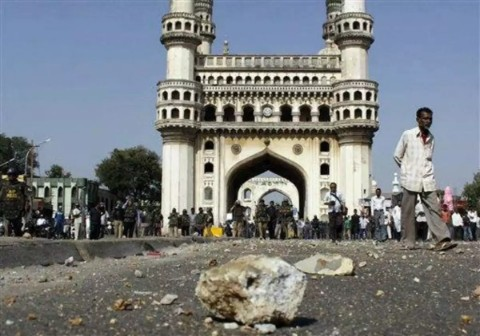 Air pollution turning Charminar black