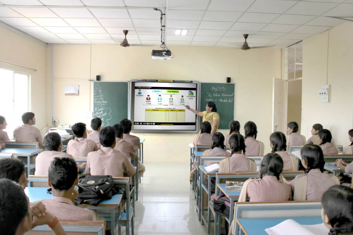 smart classrooms in Coimbatore school