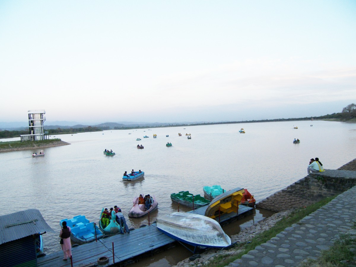 Artificial lake created in Chandigarh