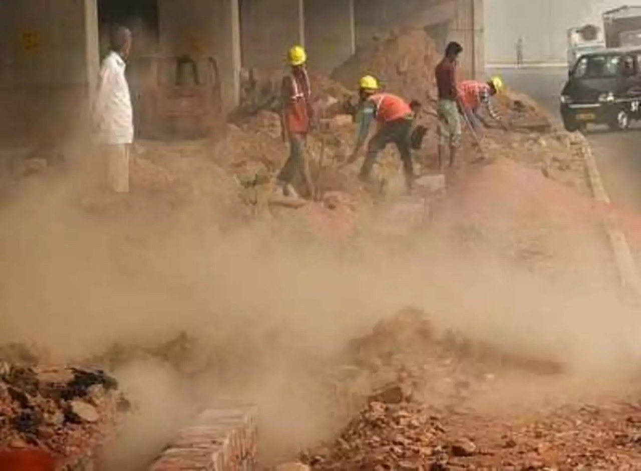 dust pollution at construction sites