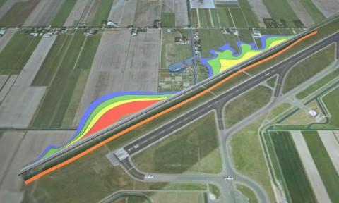 sound barriers at IGI Airport