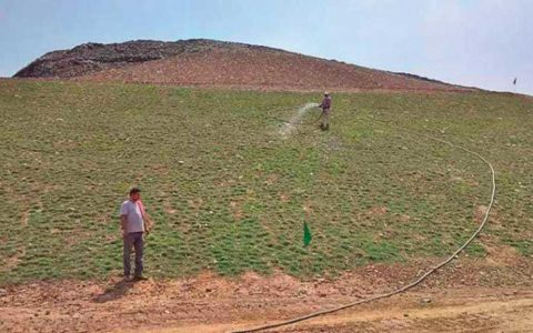 SDMC green capped 7000 sqm of Okhla landfill