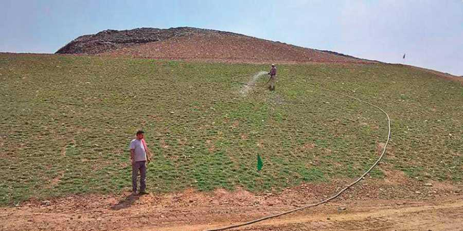 SDMC green capped 7000 sqm of Okhla landfill
