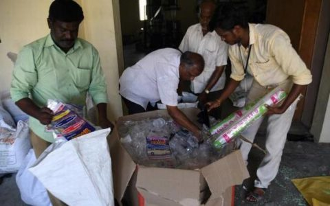 plastic items seized in Salem