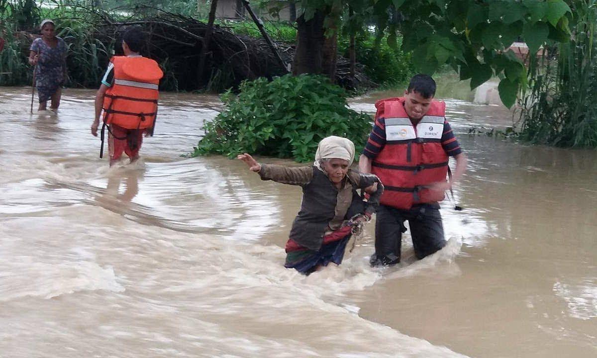 Nepal flooded