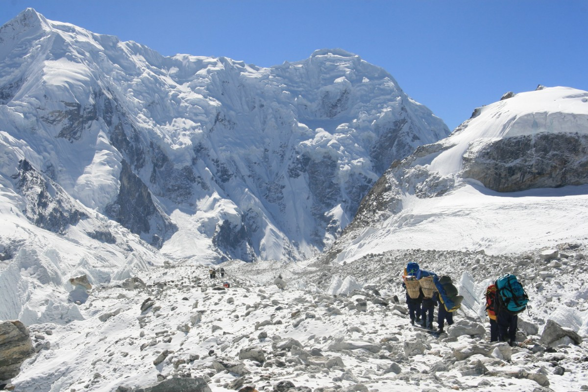 Himalayan glaciers receding