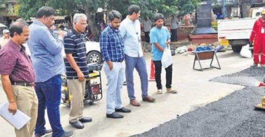 VMC opts for Bitumen polymer for restoration of damaged city roads
