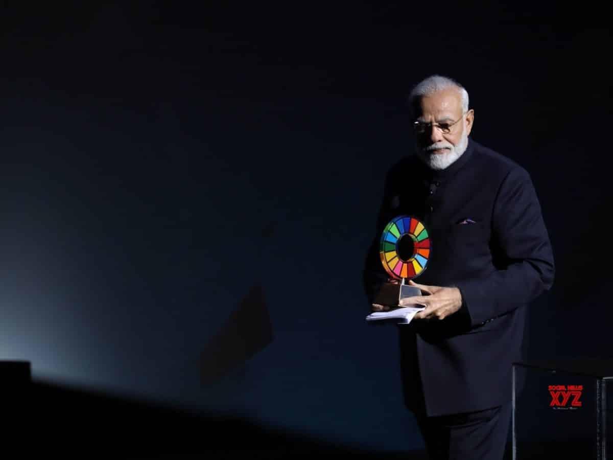 PM Modi receives 'Global Goalkeeper' award