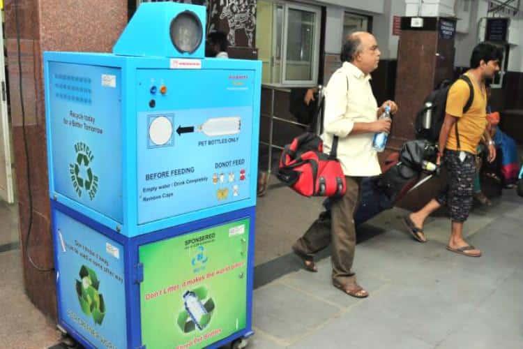 Indian Railways installs plastic bottle crushing machine