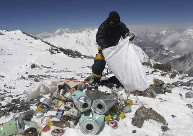 Recycled waste from Everest trending in Nepal