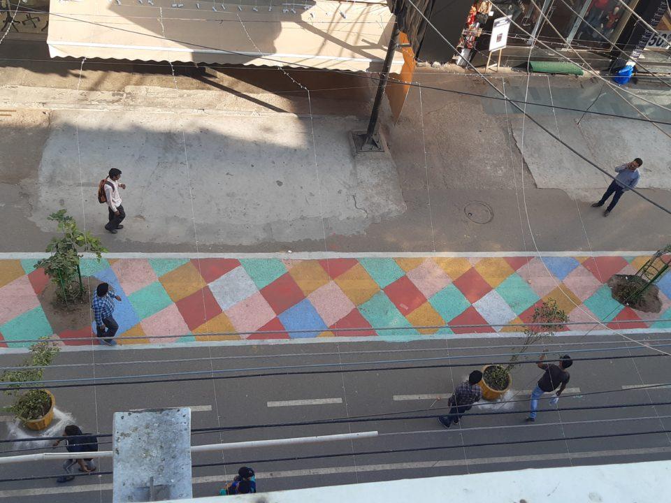 Students revamp Ajmal Khan road in Karol Bagh for Diwali