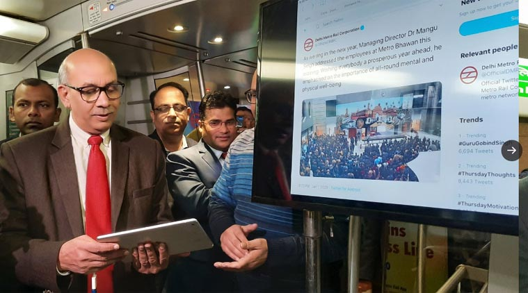 DMRC's Airport Line gets in-coach wifi service