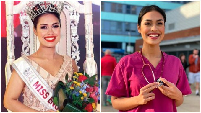 Miss England 2019 puts down her crown to work as a doctor amid coronavirus pandemic