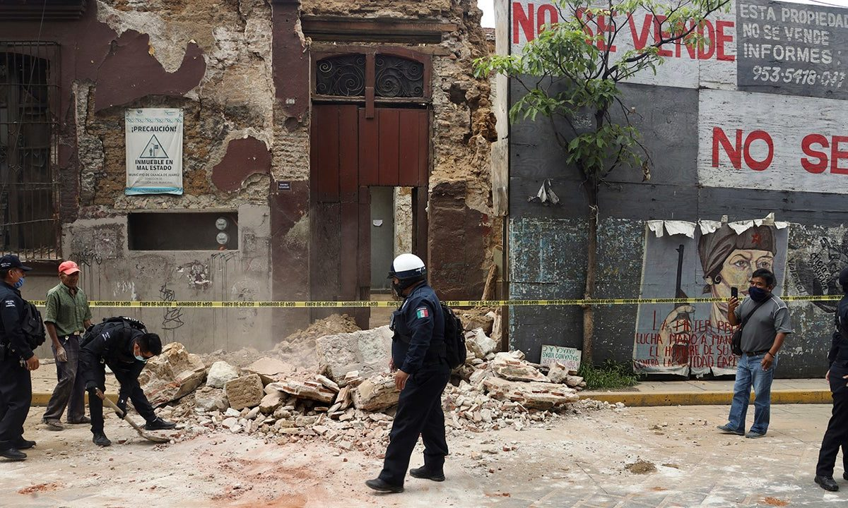 Deadly earthquake strikes southern Mexico