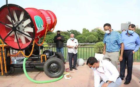 NDMC installs anti-smog gun in Connaught Place to battle pollution