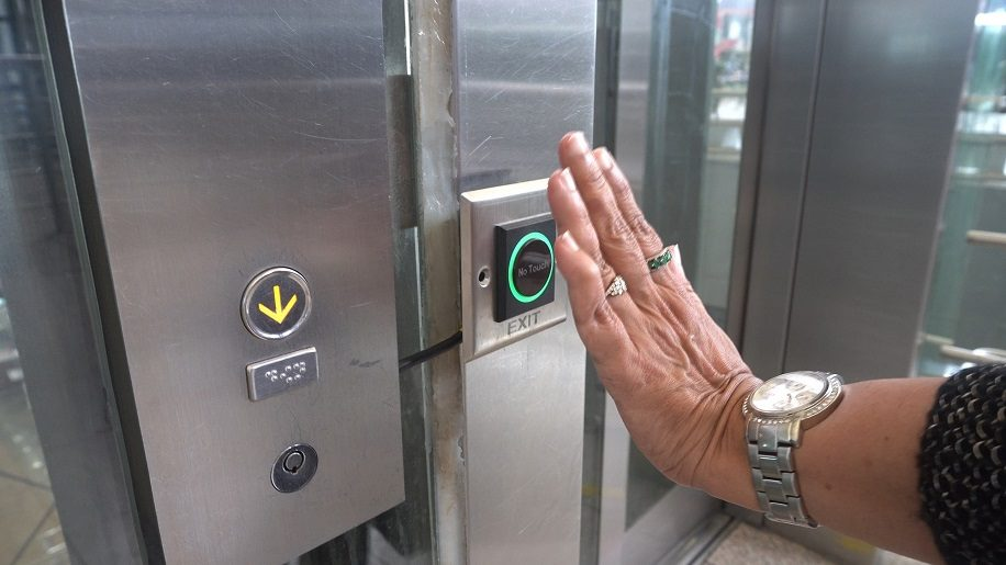 Contactless elevators at Hyderabad International Airport