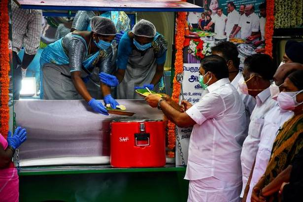 Amma canteens and drinking water projects unveiled in Tamil Nadu