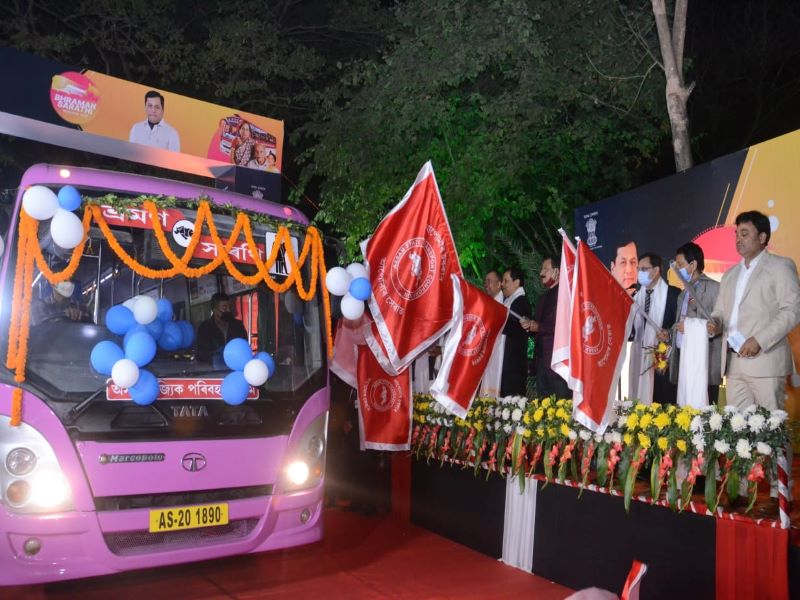 Free bus service for women and senior citizens in Assam