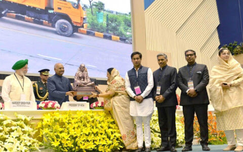 Indore municipality bags first position in Janaagraha Awards