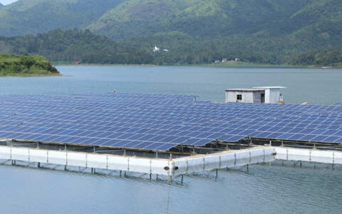 One of the largest floating solar power plant commissioned in Kerala